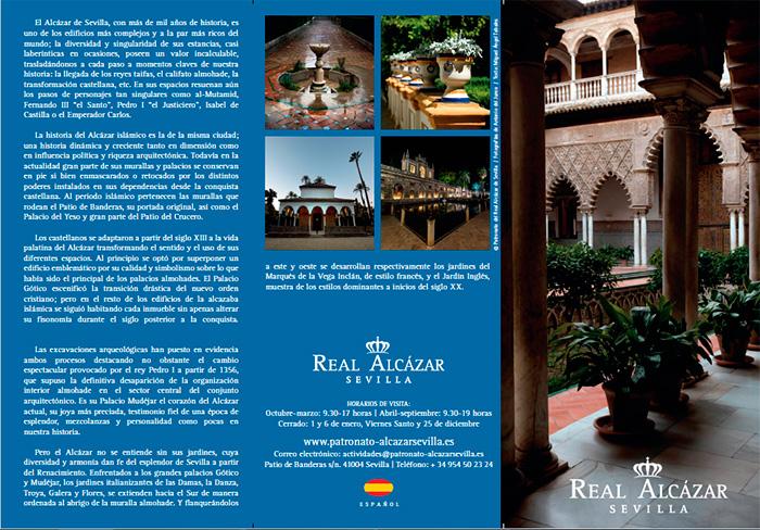 Tríptico informativo del Alcázar de Sevilla