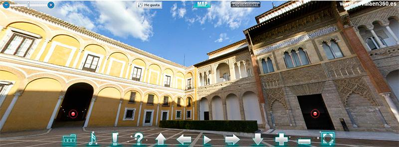 Visita Virtual al Alcázar de Sevilla en 360º