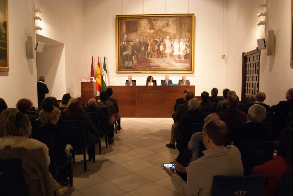 Salón Almirante del Real Alcázar de Sevilla donde se ha presentación del libro 'Cuentos de los Reales Alcázares de Sevilla', del autor inglés Mervyn Samuel