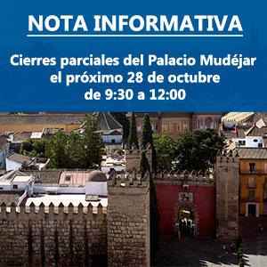 Cierre parcial del Palacio Mudéjar