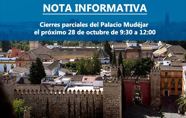 Cierre parcial Palacio Mudéjar