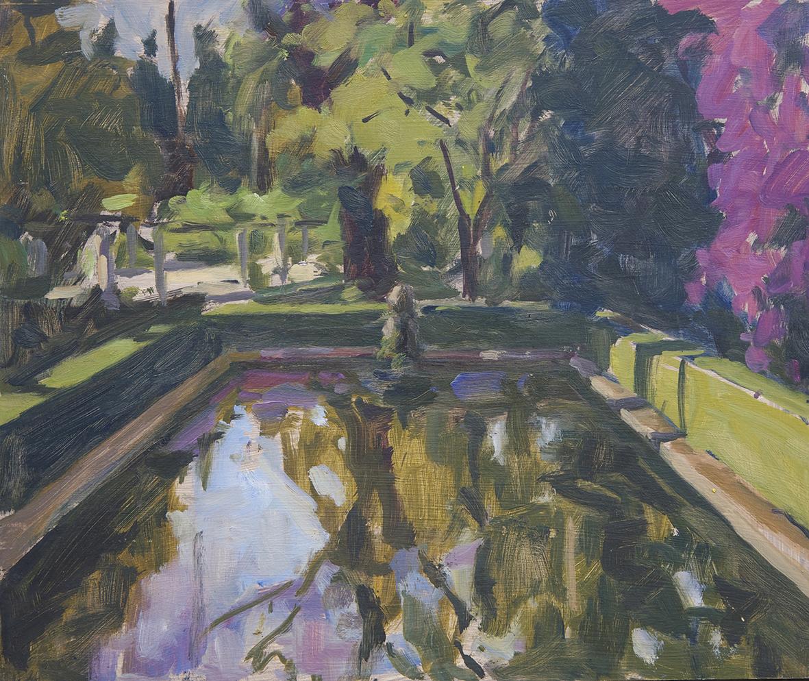 Exposici n de pintura 39 jardines de luz 39 en el real alc zar for Jardin de luz